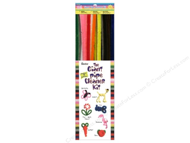 Darice Chenille Stems Giant Pipe Cleaner 15mm Assorted 40pc