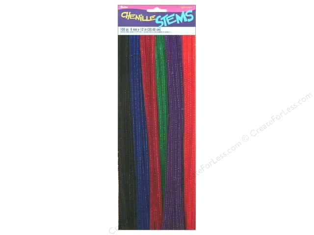 Chenille Stems by Darice 6 mm x 12 in. Jewel Assorted 100 pc.