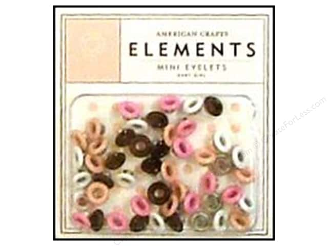 American Crafts Eyelets Elements Mini 48pc Baby Girl