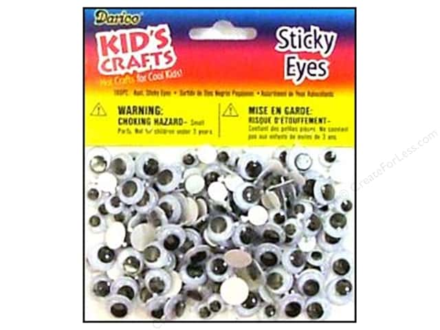 Darice Eyes Round Assorted Black 160pc