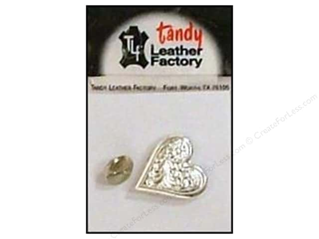 Leather Factory Concho Nickel Engraved Heart