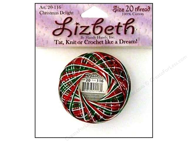 Lizbeth Thread Size 20  #116 Christmas Delight