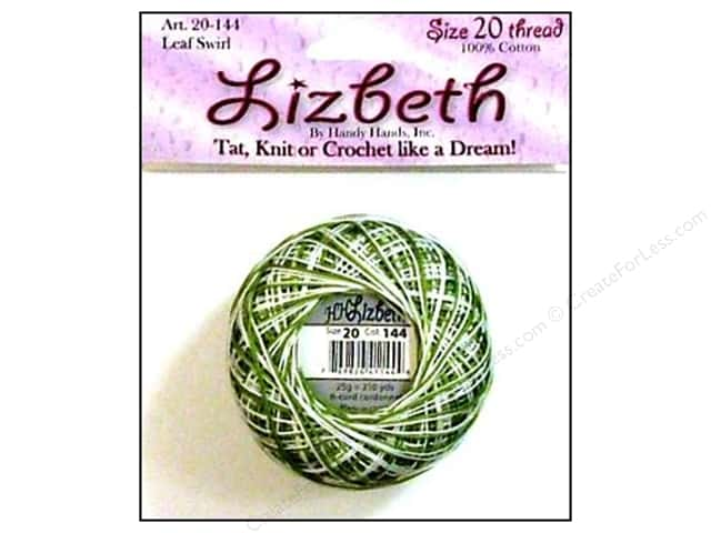 Lizbeth Thread Size 20  #144 Leaf Swirl