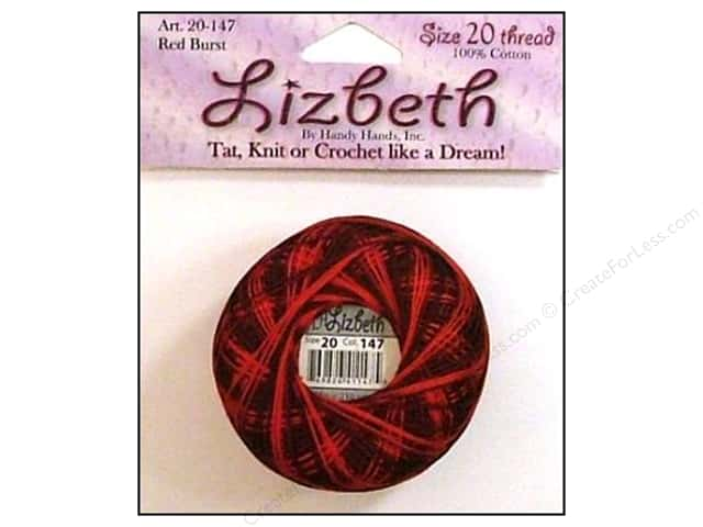 Lizbeth Thread Size 20  #147 Red Burst