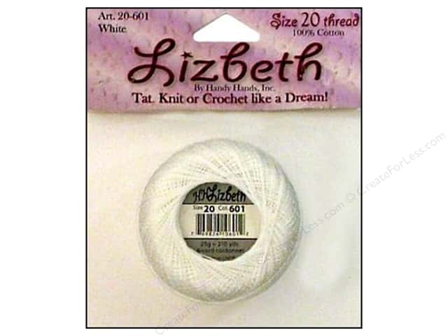 Lizbeth Thread Size 20  #601 Snow White