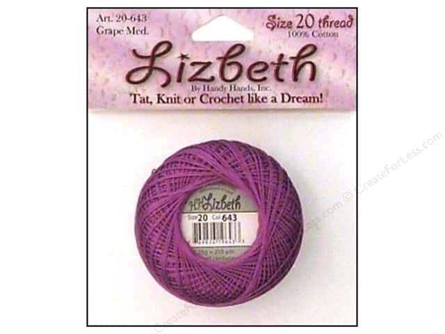 Lizbeth Thread Size 20  #643 Grape Medium