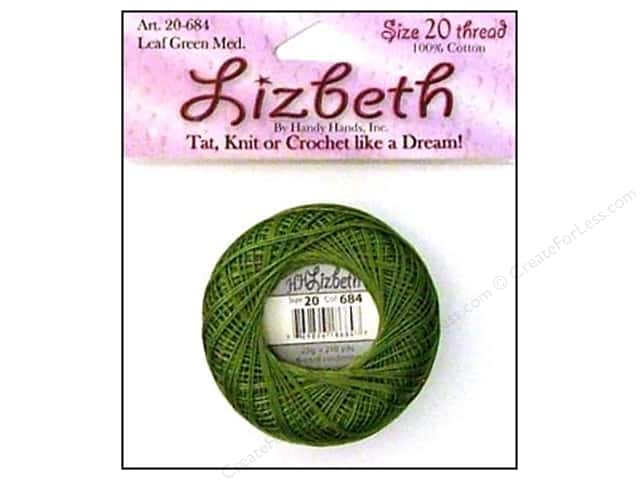 Handy Hands Lizbeth Tat Thread Size 20 Leaf Green Medium