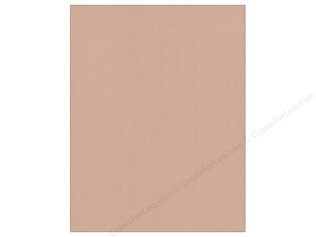 "ColorMates Cardstock 8.5""x 11"" Textured Ribbon Light Brown (25 sheets)"