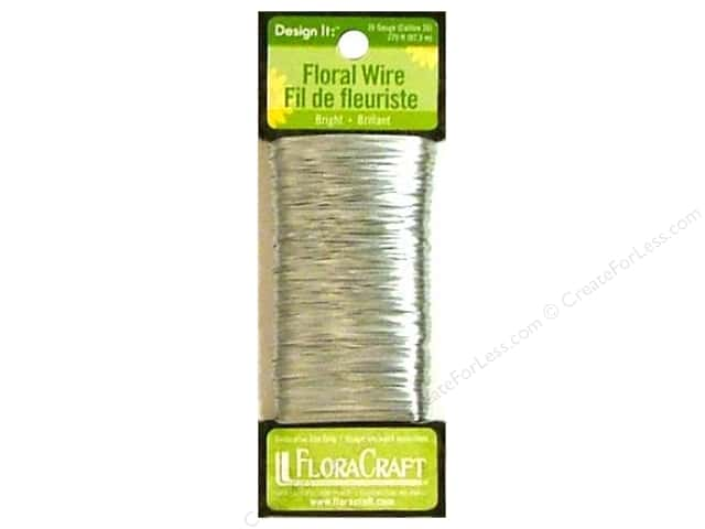 FloraCraft Floral Wire Paddle 26 Gauge Bright 270ft