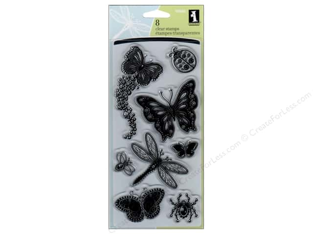 Inkadinkado Clear Stamp Gem Stone Insects