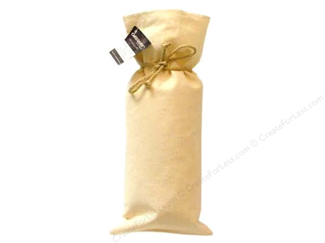 Mark Richards Blank Canvas Wine Bottle Bag Natural