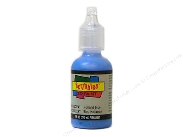 Scribbles 3D Fabric Paint 1 oz. Iridescent Holland Blue
