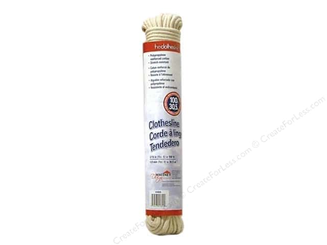 "The Clothesline Cord Poly/Cotton 3/16"" 100'"