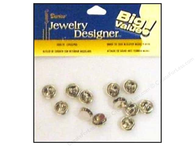 Darice Jewelry Designer Findings Tie Tack w/Clutch Nickel Plate Brass 12pc