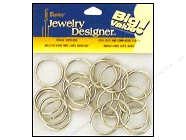 Darice Jewelry Designer Split Ring 25mm Nickel Plate Steel 48pc