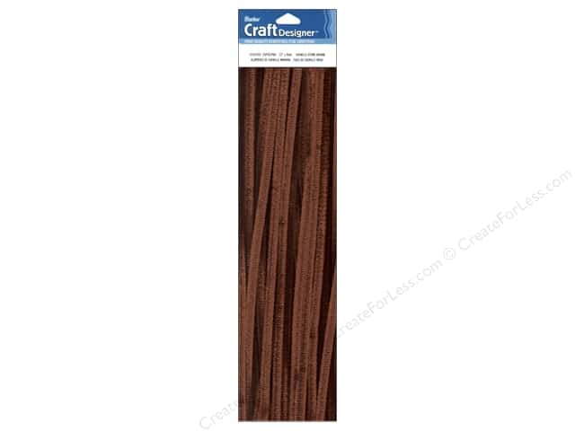 "Darice Chenille Stems 6mm 12"" Brown 25pc (3 packages)"