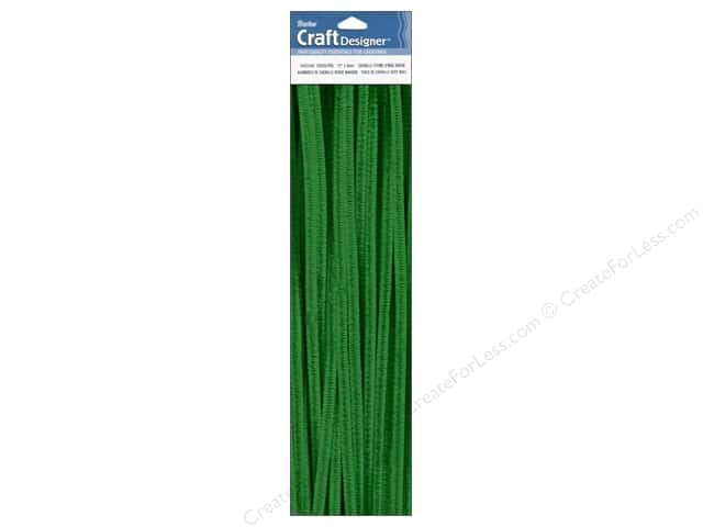 "Darice Chenille Stems 6mm 12"" Emerald 25pc (3 packages)"
