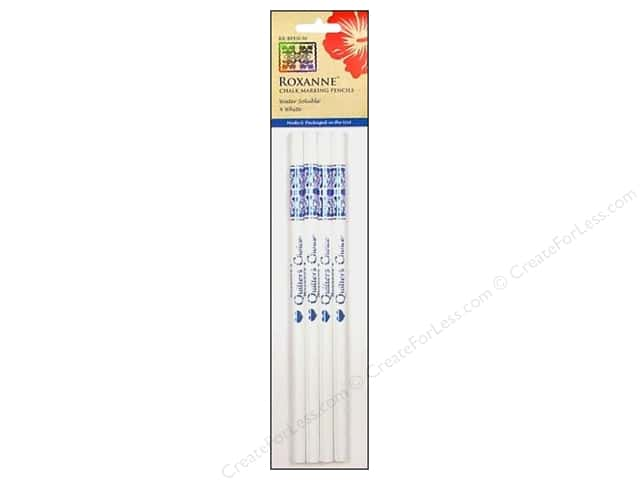 Roxanne Notions Quilters Choice Chalk Marking Pencils White 4pc