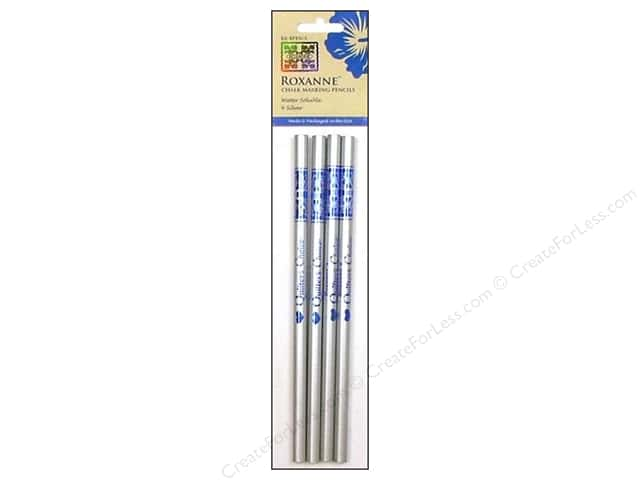 Roxanne Notions Quilters Choice Chalk Marking Pencils Silver 4pc