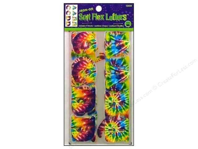 "Dritz Iron On Letters Soft Flex 1.25"" Tie Dye"