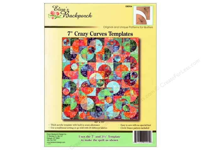 "Elisa's Backporch Templates 7"" Crazy Curves"