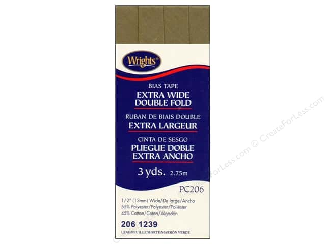 Wrights Extra Wide Double Fold Bias Tape 3 yd. Leaf