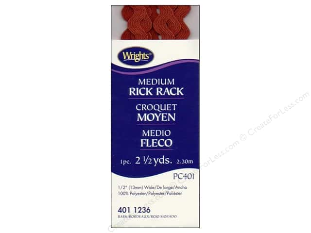 Wrights Rick Rack Medium Bark 2 1/2 yd.