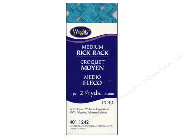 Wrights Rick Rack Medium 2 1/2 yd. Mediterranean