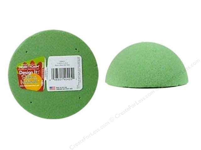 "FloraCraft Desert Foam Arranger 1/2 Ball 4"" Green"