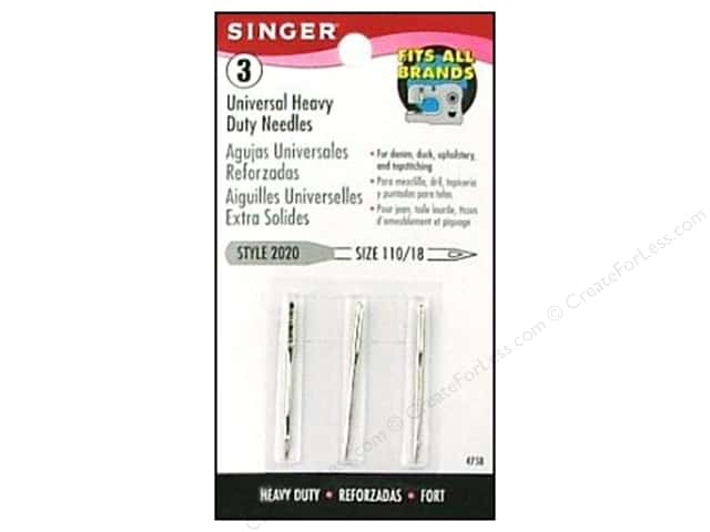 Singer Regular Point Machine Needles Universal Size 18 3 pc.