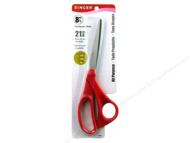 "Singer Bent Scissors 8 1/2"" Red Handle"