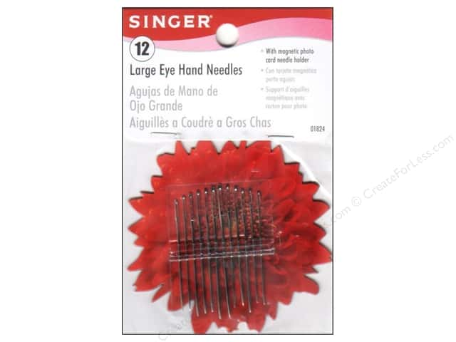 Singer Notions Hand Needle Large Eye With Magnetic Holder 12pc