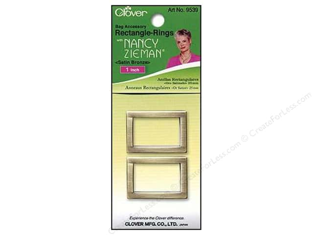 "Clover Zieman Bag Rectangle Ring 1"" Satin Bronze 2pc"