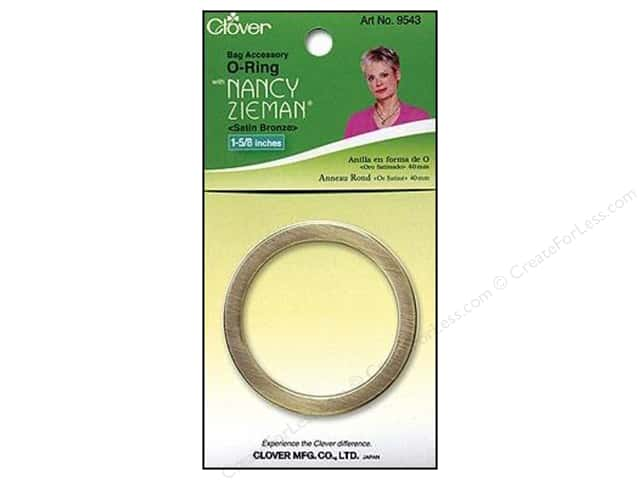 "Clover Zieman Bag O Ring 1 5/8"" Satin Bronze"