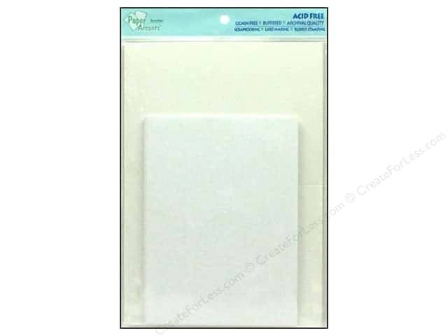 5 x 7 in. Blank Card & Envelopes by Paper Accents 10 pc. White