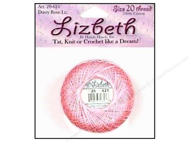 Lizbeth Thread Size 20  #621 Dusty Rose Light
