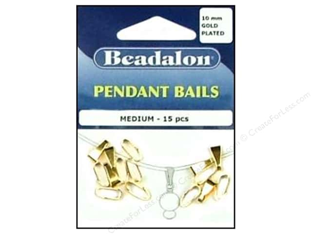 Beadalon Bails Pendant Medium Gold Plated 15pc