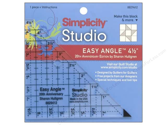 "Simplicity Studio Ruler Easy Angle 4.5"" 20th Anniversary Edition"