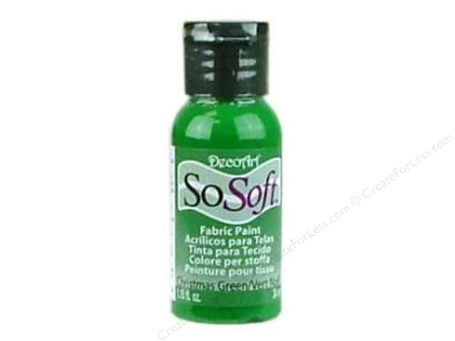 DecoArt SoSoft Fabric Paint 1.15 oz. Christmas Green