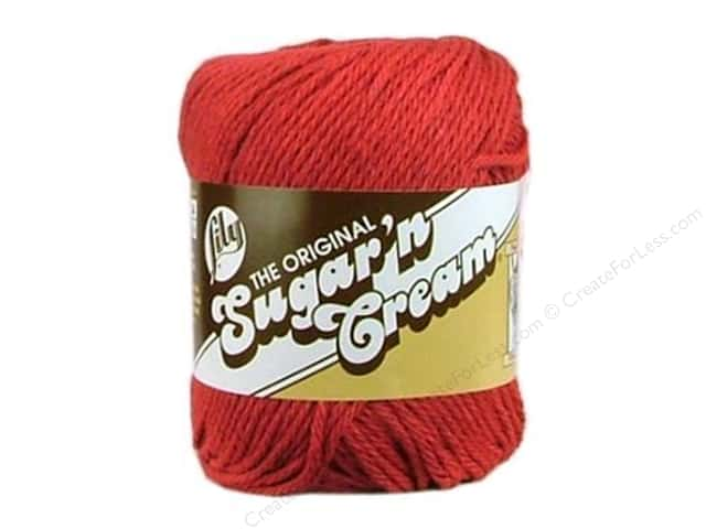 Sugar'n Cream Yarn Country Red 2.5oz