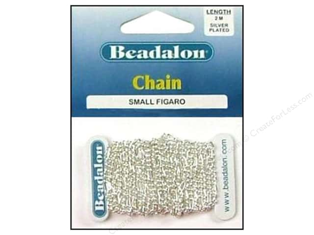 Beadalon Figaro Chain 2.2 mm (.087 in.) Silver Plated 2 m (6.56 ft.)