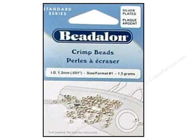 Beadalon Crimp Beads 2 mm Silver .05 oz.