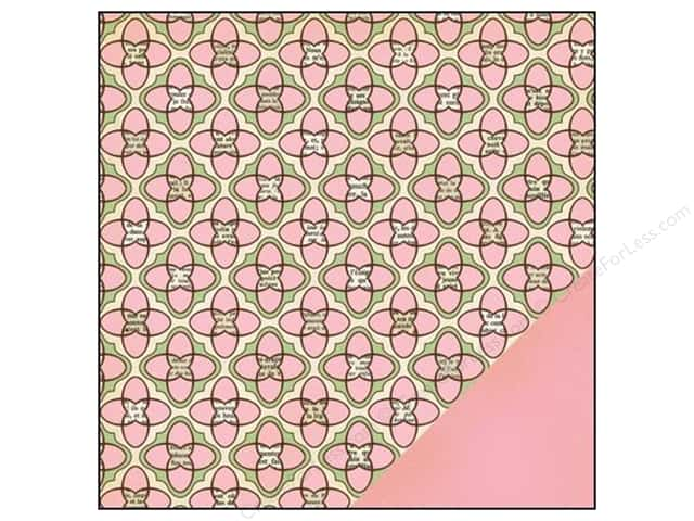 "Making Memories Paper 12""x 12"" Findings Pink Geometric (25 sheets)"