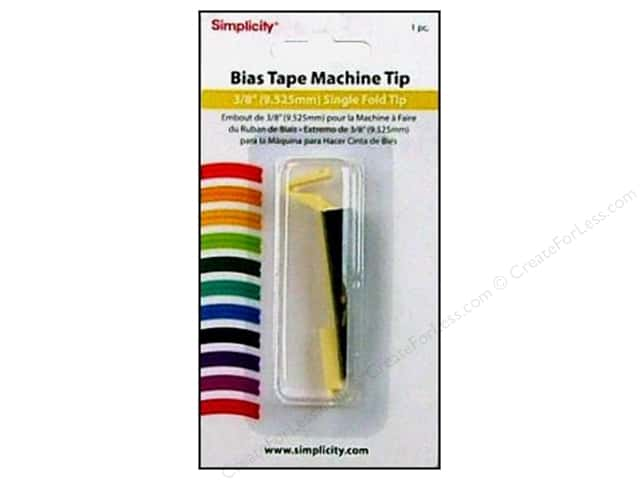 Simplicity Bias Tape Maker Single Fold Tip 3/8""