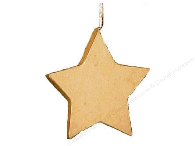 Paper Mache Flat Star Ornament by Craft Pedlars (3 pieces)