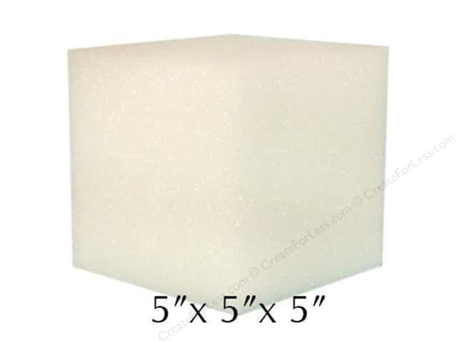 FloraCraft Styrofoam Cube 5 x 5 x 5 in. White (3 pieces)