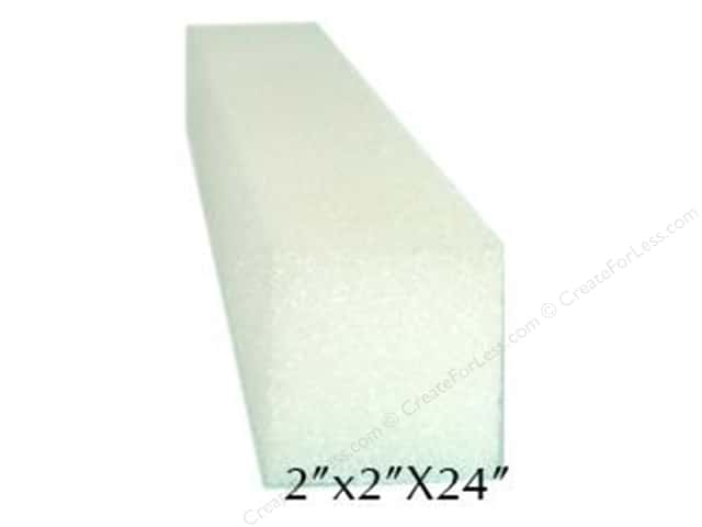 FloraCraft Styrofoam Square Bars 2 x 2 x 24 in. White (36 pieces)