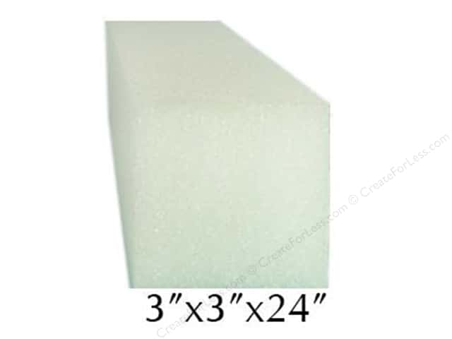 FloraCraft Styrofoam Bulk Square Bars 3 x 3 x 24 in. White (24 pieces)