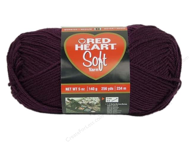 Red Heart Soft Yarn #3729 Grape 256 yd.