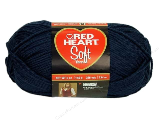 Red Heart Soft Yarn #4604 Navy 256 yd.